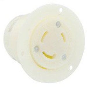 Leviton 4715-C Flanged Outlet, 15A, 125V, 2P3W