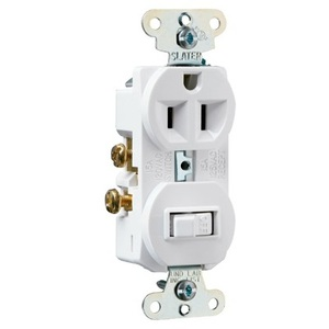 Pass & Seymour 691-W Switch / Duplex Combination, 15A, White