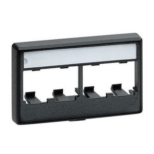 Panduit CFFPL4WH Mini-Com®, Furniture Faceplate