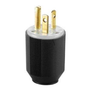 Eaton Arrow Hart 5466N Plug 20a 250v 2p3w Str Autogrip Bw