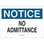 22148 ADMITTANCE SIGN