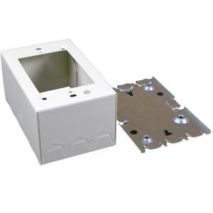 Wiremold V5744S Deep Switch/Receptacle Box, 1-Gang, 500/700 Series, Ivory