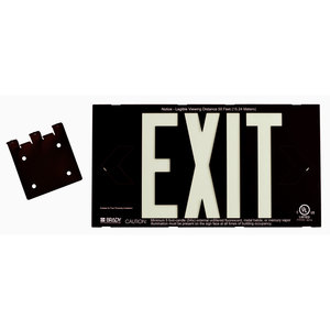 38098B PHOTOLUM EXIT SIGN 2 SIDED W/MNT
