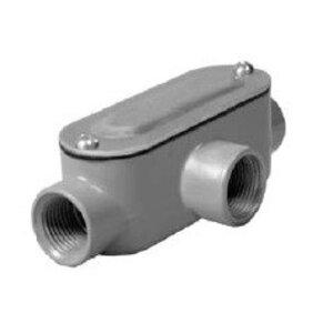 "Hubbell-Raco RLT075 Conduit Body, Type: LT, ""R"" Series, Size: 3/4"", Die Cast Aluminum"