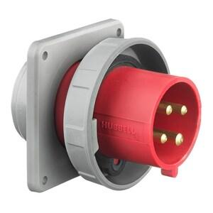 Hubbell-Wiring Kellems HBL430B7W PS, IEC, INLET, 3P4W, 30A 3P 480V,4X/69K