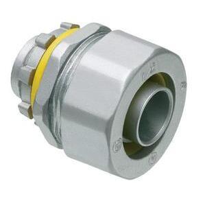"Arlington LT50 Liquidtight Connector, Straight, 1/2"", Die Cast Zinc"