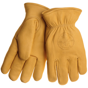 40017 COWHIDE GLOVES WITH THINSULATE L