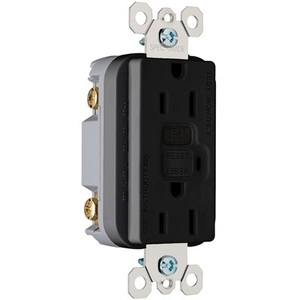 Pass & Seymour 1595-BK GFCI Receptacle, 15A, 125V, Black *** Discontinued ***