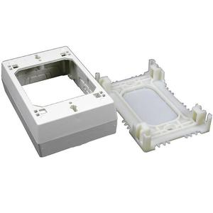 Wiremold 2347 Device Box, 1-Gang, 2300 Series Raceway, Ivory