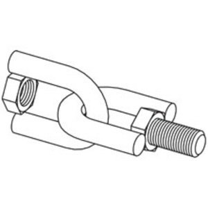Eaton B-Line B446-1/2ZN SWIVEL HANGER, FEMALE-MALE, 1/2-IN.-13, ZINC PLATED