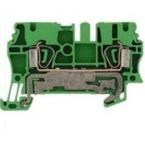 Weidmuller 1608640000 Terminal Block, Grounding, Z-Series, Green/Yellow, 2.5mm, PE