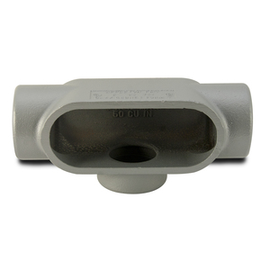 "Appleton T57 Conduit Body, Type: T, 1-1/2"", Form 7, Grayloy-Iron"
