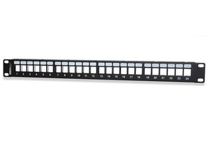 Signamax 24U-HDMMP 24-Port Field-Configurable Unloaded Patch Panel