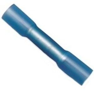 3M MH14BCX Heat Shrink Butt Connector, 16 - 14 AWG, Blue, Pack of 25