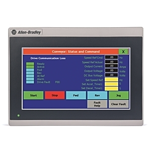 "Allen-Bradley 2711R-T7T Operator Interface, PanelView 800, 7"", HMI Terminal, Touch Screen TFT"