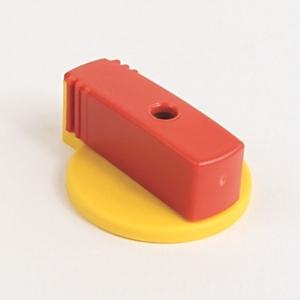Allen-Bradley 140M-C-KRY1 Twist Knob, Lockable, Red/Yellow, for 1 Padlock