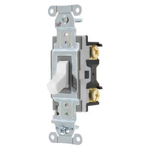 Hubbell-Wiring Kellems CSB215W SWITCH, COMM, DP, 15A 120/277V, B+S, WH