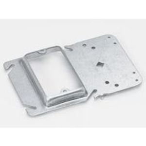 "Eaton B-Line BB40-12 Box Support/Cover Plate Mounting Bracket, 3/4"" Raised, Steel"