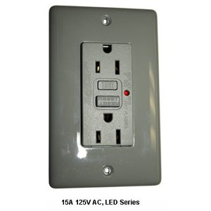 Hubbell-Bryant GF15WLA GFCI Receptacle, 15A, 125V, White *** Discontinued ***
