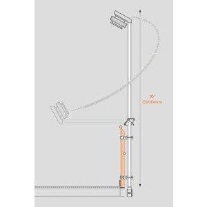Swivelpole MBK2-2-40-HG SWVL MBK2-2-40-HG U-BOLT STANCHION
