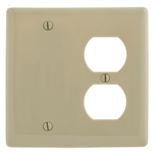 Hubbell-Wiring Kellems NP138I WALLPLATE, 2-G, 1) DUP 1) BLANK, IV
