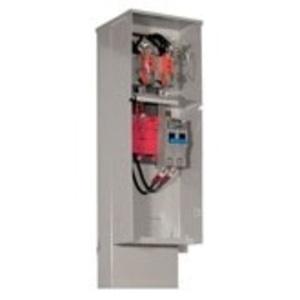 Milbank U5136-O-200S Meter Main, Pedestal, 200A, 4 Circuit, 4 Jaw, 1PH, 120/240VAC