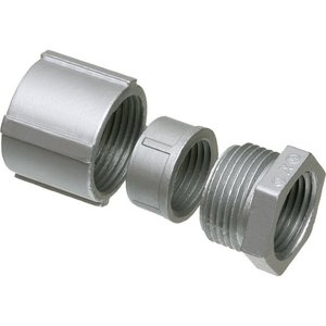 "Arlington 205 Rigid Three-Piece Coupling, 2"", Threaded, Zinc Die Cast"