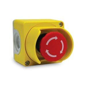 ABB CEPY1-2001 Emergency Stop Control Station, 2 N.C., Yellow/Light Gray