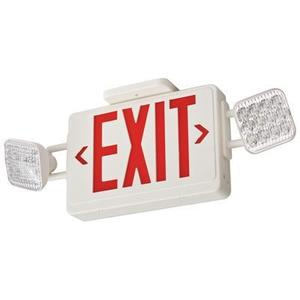 Lithonia Lighting ECRLEDM6 Emergency Combo Exit/Light, LED, Red Letters