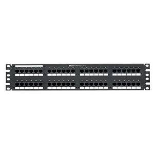 "Panduit DP48688TGY Patch Panel, Cat 6, 48 Port, 2 Unit Height, 19"" Width, DP6 Plus, RJ45"