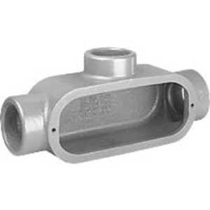 "Hubbell-Killark T88 3"" T Hub, Iron Form 8 Conduit Body"