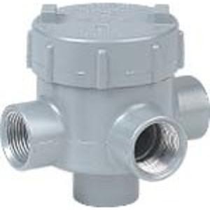 """Hubbell-Killark GEMTA-2 Conduit Outlet Box, Type GEMTA, (3) 3/4"""" Hubs, Aluminum"""