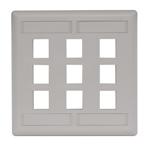 Hubbell-Premise IFP29OW PLATE WALL FLUSH 2-G 9PORT OW