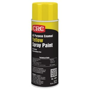CRC 18001 Enamel Spray Paint, All-Purpose, Yellow, 10 Ounce