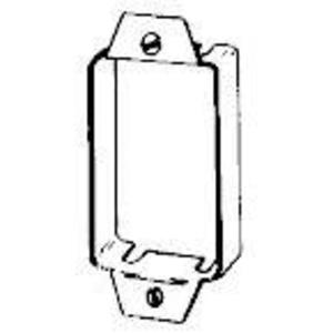 "Appleton 1490 Switch Outlet/Box Extension, 1-Gang, 7/8"" Deep, Steel"