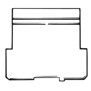 "Steel City 52-PS-2 4"" Square Partition, 4"" x 4"" x 1-1/2"", Steel"