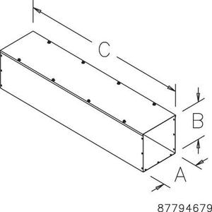 "nVent Hoffman F1010T136GV Wireway, Type 1, Screw Cover, 10"" x 10"" x 36"", Steel, Galvanized, No KOs"