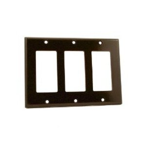 Leviton 80411 Decora Wallplate, 3-Gang, Thermoset, Brown