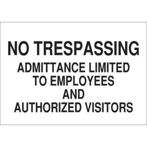 22229 ADMITTANCE SIGN