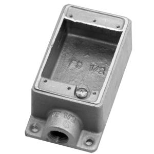 CIFS1G1/2 FS BOX SHALLOW 1 GANG 1/2 HUB