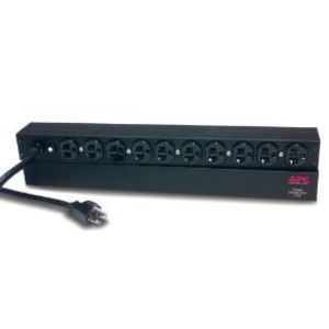 American Power Conversion AP9563 Rack, PDU, Horizontal, 1RMU, 20A, 120VAC, 10 x 5-20R Receptacles