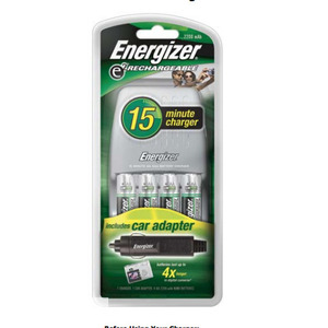 Energizer CH15MNCP-4 15 MINUTE CHARGER