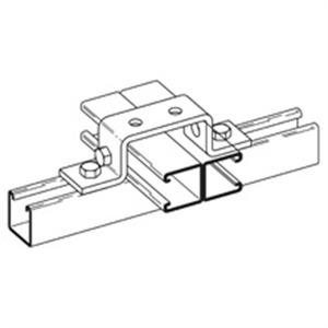 Eaton B-Line B266HDG Six-Hole U-Support, Hot Dip Galvanized