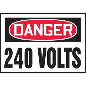 "Panduit PLVS0305D3170 3.50"" x 5.00"" DANGER 240 VOLTS EA"