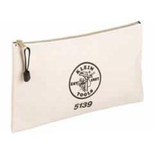 Klein 5139 Zipper Bag, Canvas Tool Pouch 12.5 x 7 x 4.25-Inch