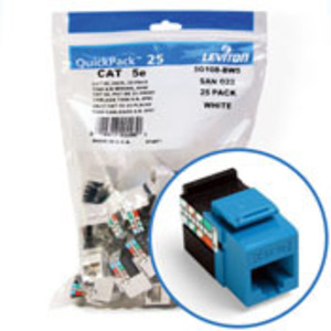 5G108-BL5 BU CAT5E SNAPIN JACK 1 = 25