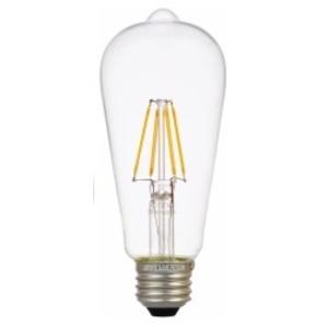 SYLVANIA LED4.5ST19DIM827FILG2RP Filament LED Lamp, 4.5W, Bulb: ST19