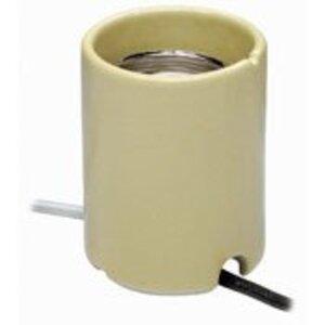 Leviton 8750-1 HID Lampholder, Mogul Base, Porcelain, Keyless, Yellow