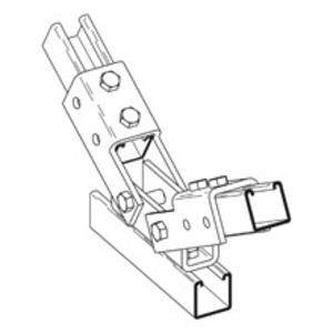 Eaton B-Line B635ZN Double Channel Adjustable Brace, Zinc Plated