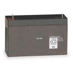 Lithonia Lighting ELB0612A Replacement Battery for Emergency Lighting Unit, 6V 12AH
